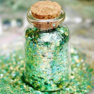 biodegradable green glitter