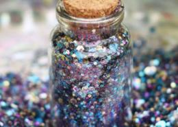 biodegradable purple glitter