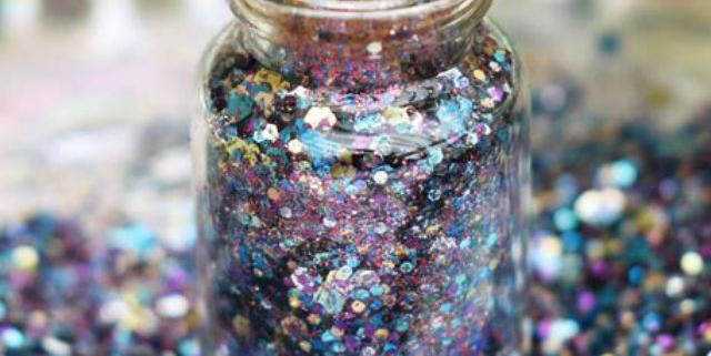 biodegradable purple glitter