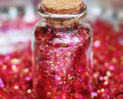 biodegradable red glitter