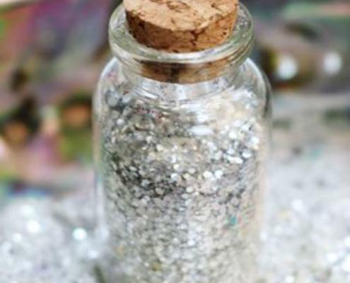biodegradable silver glitter