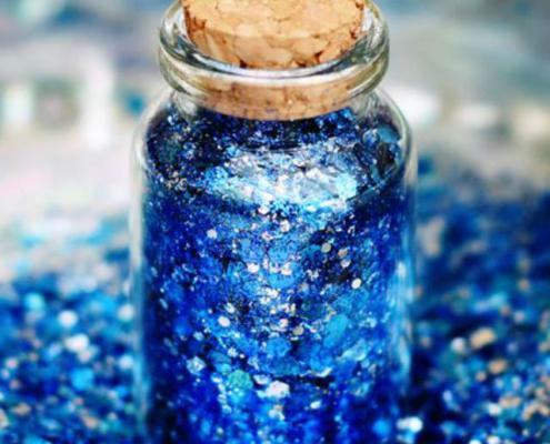 biodegradable blue glitter
